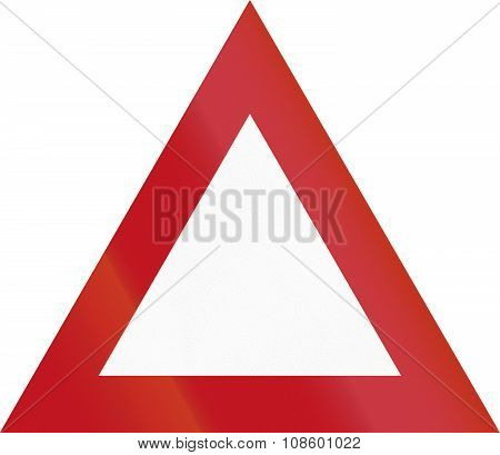 New Zealand Road Sign - Miscellaneous Warning Triangle