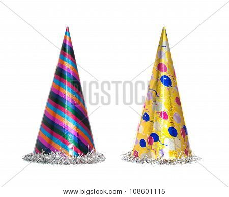 Party Hat Isolated On The White, New Year Celebration Items
