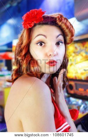 Pinup Girl Kiss