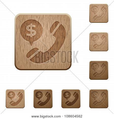 Money Call Wooden Buttons