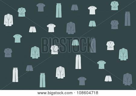 Men's coat, sweater and pants