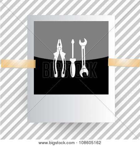 tools. Photoframe. Raster icon.