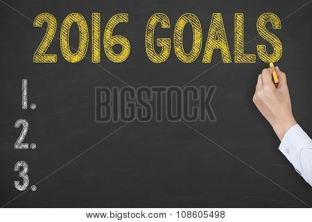 Goals 2016 Drawing on Chalkboard