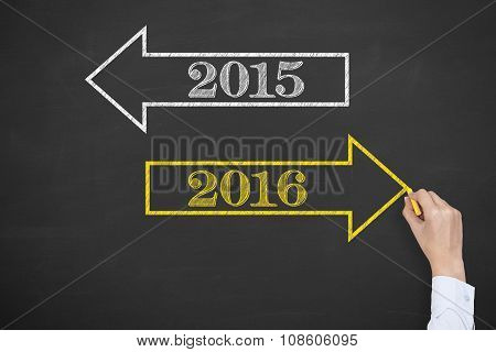 New Year 2016 Arrow Concept