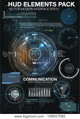 Infographic elements. futuristic user interface HUD UI UX. Abstract background with connecting dots and lines. Connection structure. Vector science background. Business abstract Vector illustration