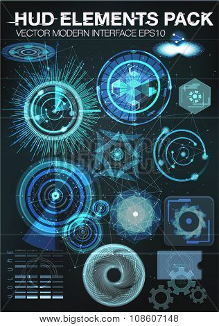 set Infographic elements. futuristic user interface HUD UI UX. Connection structure. Vector science background. abstract elements for medical interfaces. Vector illustration. futuristic user interface