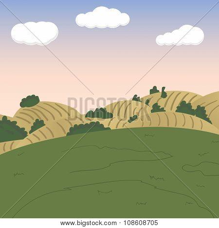 Vector landscape background. 1