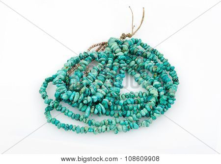 Turquoise Nugget Necklace.