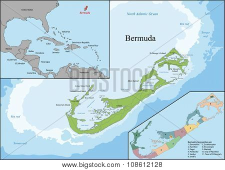 Bermuda is a British Overseas Territory in the North Atlantic Ocean, located off the east coast of North America.