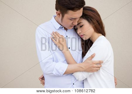 Couple not talking after a dispute
