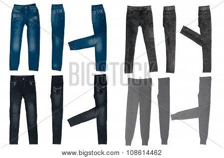set of female pants