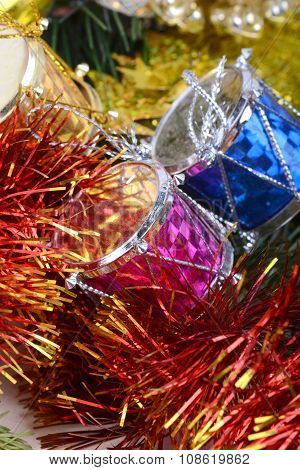 Closeup On Colourful Christmas Decorations