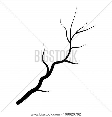 Branch Silhouette Icon, Symbol, Design. Vector Illustration Isolated On White Background.