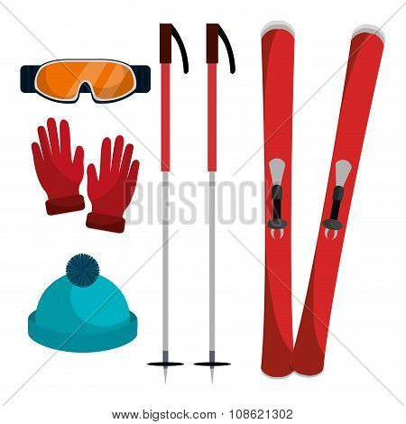 Winter ski accessories