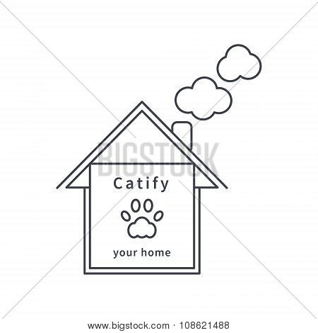 Catify your home line icon