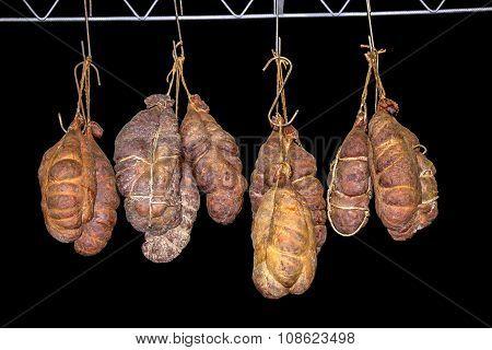 Kulen Hanging In Smokehouse