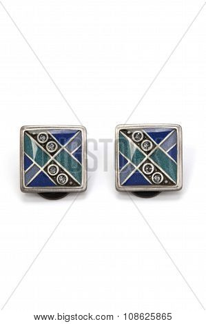 Cufflinks with floral design