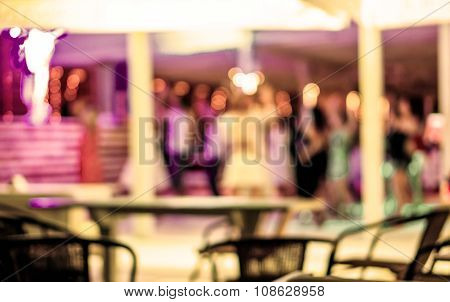 Background Of Disco Club De Focused Retro Filtered