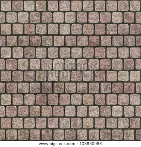Pavement  Cobblestones seamless texture background.