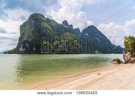 Beach At Khao Phing Kan Island, Andaman Sea,  Thailand