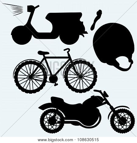 Two-wheeled vehicles: bicycle, motorcycle or moped