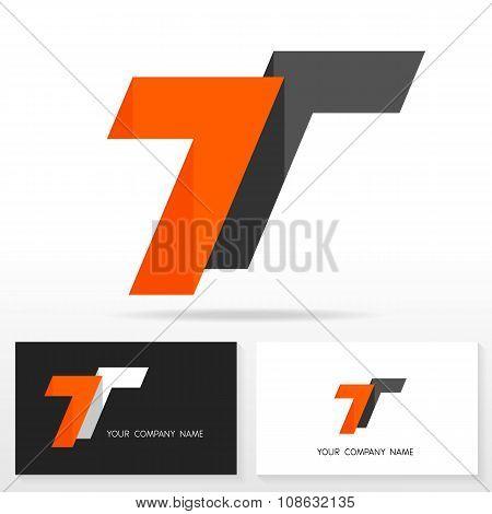 Letter T logo icon design template elements - Illustration.