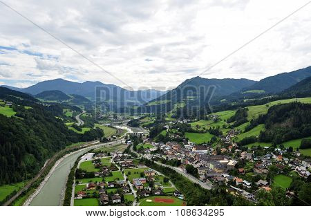 View From Hohenwerfen Castle, Austria