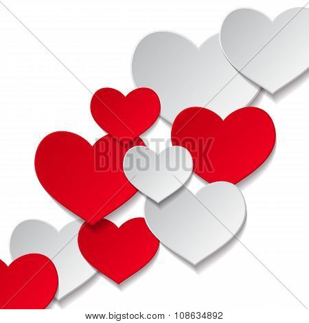 hearts white background