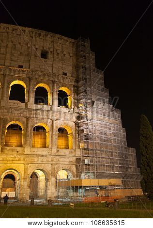 Colosseum By Night - Restoration Works 2015