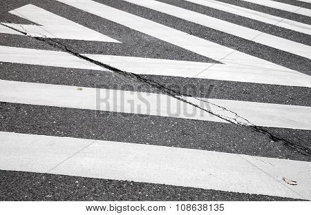 Pedestrian Crossing Road Marking Zebra, Abstract