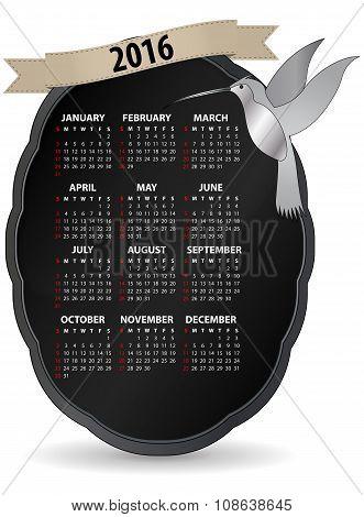 2016 Humming Bird Calendar