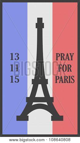Pray for Paris words card