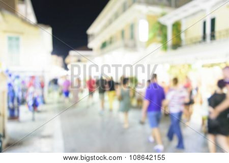 City Commuters. High Key Blurred Image Of Workers Going Back Home After Work. Unrecognizable Faces,
