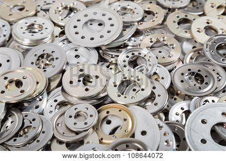 Pile of aluminium spacers
