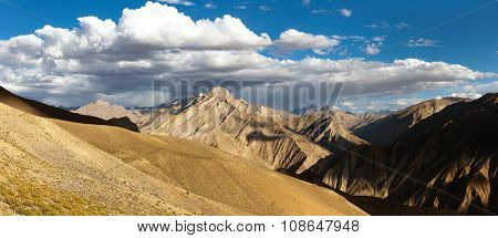 Canyon Of Zanskar River. View From Zanskar Valley