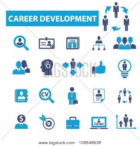 career development  icons, signs vector concept set for infographics, mobile, website, application