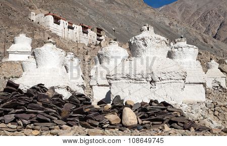 Ruins Of Royal Palace In Nubra Valley, Ladakh