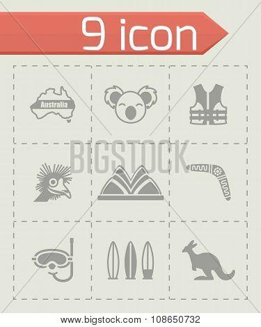 Vector Australia icon set
