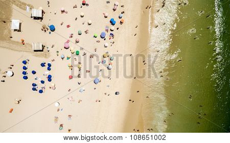 Beach on top of view