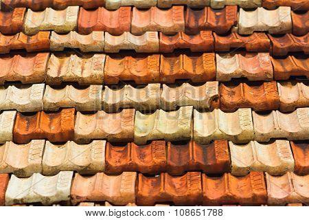Tile Roof Bakground.