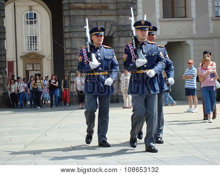 Changing Of The Presidential Guards