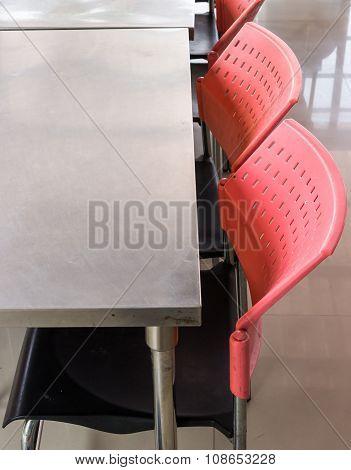 Metal Chair And Table Set