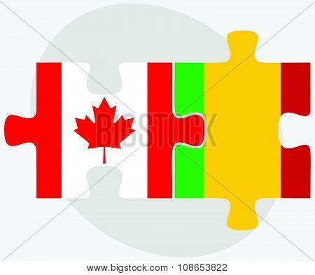 Canada And Mali Flags
