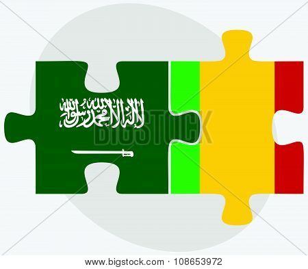 Saudi Arabia And Mali Flags