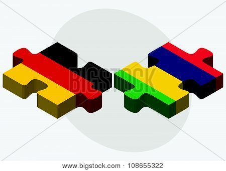 Germany And Mauritius Flags
