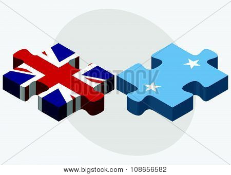 United Kingdom And Micronesia Flags