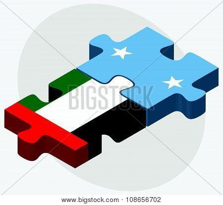 United Arab Emirates And Micronesia Flags