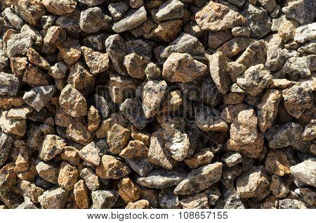 Natural Stones Gravel Texture Macro Background