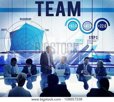 Team Teamwork Corporate Partnership Cooperation Concept
