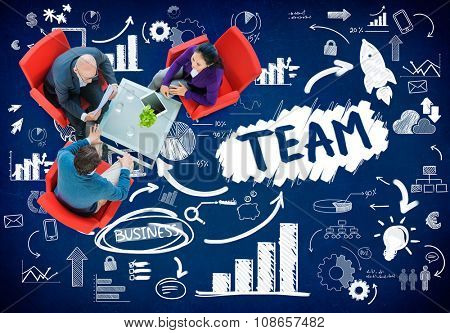 Team Teamwork Industry Company Connection Technology Concept